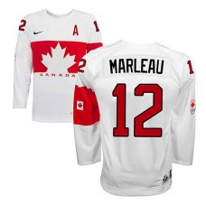 Canada Team Patrick Marleau #12 White Home Premier Olympic Jersey
