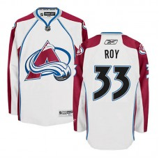 Youth Colorado Avalanche Patrick Roy #33 White Away Jersey