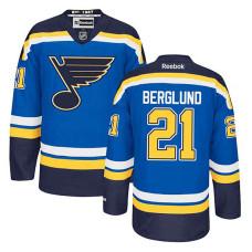 St. Louis Blues Patrik Berglund #21 Royal Blue Home Jersey