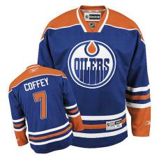 Edmonton Oilers Paul Coffey #7 Royal Blue Home Jersey