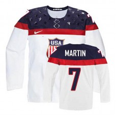 Women's USA Team Paul Martin #7 White Home Premier Olympic Jersey