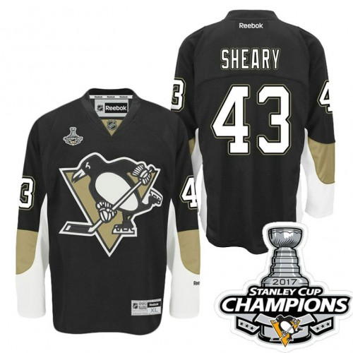 newest collection 1ec5a 7bb20 Pittsburgh Penguins #43 Conor Sheary Black Stanley Cup ...