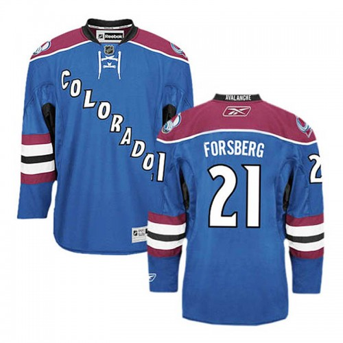 Colorado Avalanche Peter Forsberg  21 Blue Alternate Jersey b93028a26