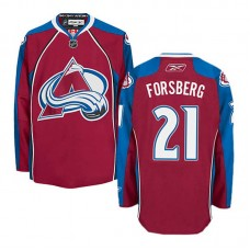 Colorado Avalanche Peter Forsberg #21 Burgundy Red Home Jersey