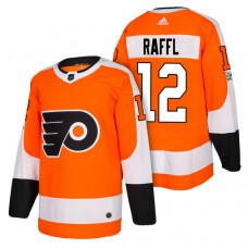 Philadelphia Flyers #12 Michael Raffl Orange 2018 New Season Authentic Team Home Jersey