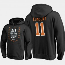 Philadelphia Flyers #11 Travis Konecny Pullover Bound Behind The Net Black Hoodie 2018 Stanley Cup Playoffs