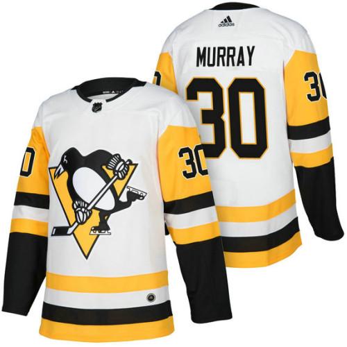 best service 252dc 13a87 Pittsburgh Penguins #30 Matt Murray White 2018 Season ...
