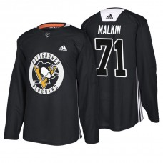 Pittsburgh Penguins #71 Black New Season Practice Evgeni Malkin Jersey