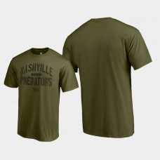 Jungle T-Shirt Green Camo Collection Nashville Predators