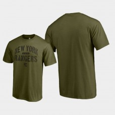 Jungle T-Shirt Green Camo Collection New York Rangers