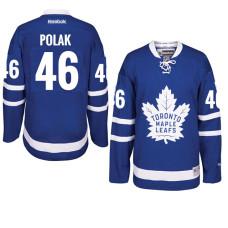 Roman Polak Toronto Maple Leafs #46 Royal Home Premier Jersey