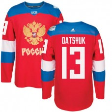 Russia Team 2016 World Cup of Hockey #13 Pavel Datsyuk Red Premier Jersey