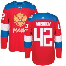 Russia Team 2016 World Cup of Hockey #42 Artem Anisimov Red Premier Jersey