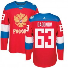 Russia Team 2016 World Cup of Hockey #63 Evgenii Dadonov Red Premier Jersey