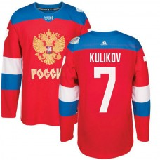 Russia Team 2016 World Cup of Hockey #7 Dmitry Kulikov Red Premier Jersey