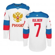 Russia Team 2016 World Cup of Hockey #7 Dmitry Kulikov White Premier Jersey