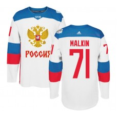 Russia Team 2016 World Cup of Hockey #71 Evgeni Malkin White Premier Jersey