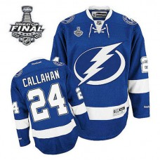 Youth Tampa Bay Lightning Ryan Callahan #24 Royal Blue 2015 Stanley Cup Home Jersey