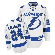 Youth Tampa Bay Lightning Ryan Callahan #24 White Away Jersey
