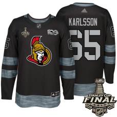 Ottawa Senators #65 Erik Karlsson Black 2017 Stanley Cup Final 100th Classic Limited Fashion Jersey