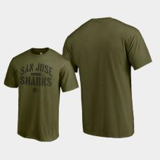 Jungle T-Shirt Green Camo Collection San Jose Sharks