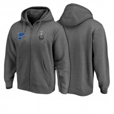 St. Louis Blues Black 2017 Stanley Cup Playoff Full-Zip Pullover Hoodie