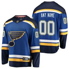St. Louis Blues 2018 Fanatics Branded Custom Jersey Blue