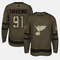 St. Louis Blues #91 Camo Salute To Service Vladimir Tarasenko Jersey