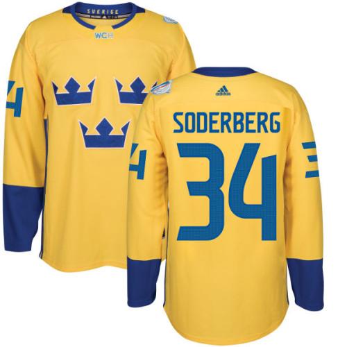 new concept 0576c 7e857 Sweden Team 2016 World Cup of Hockey #34 Carl Soderberg ...