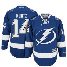 Tampa Bay Lightning #14 Chris Kunitz Blue Anniversary Patch Reebok Home Premier Jersey