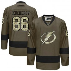 Tampa Bay Lightning Nikita Kucherov #86 Green Camo Player Jersey