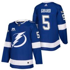 Tampa Bay Lightning #5 Dan Girardi Blue 2018 New Season Player Home Jersey