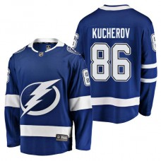 Tampa Bay Lightning #86 Breakaway Player Nikita Kucherov Jersey Blue