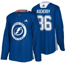 Tampa Bay Lightning #86 Blue New Season Practice Nikita Kucherov Jersey