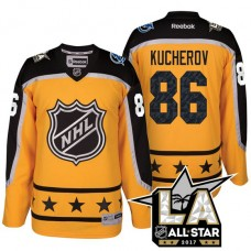 Tampa Bay Lightning Nikita Kucherov #86 Yellow La Kings All Star Jersey