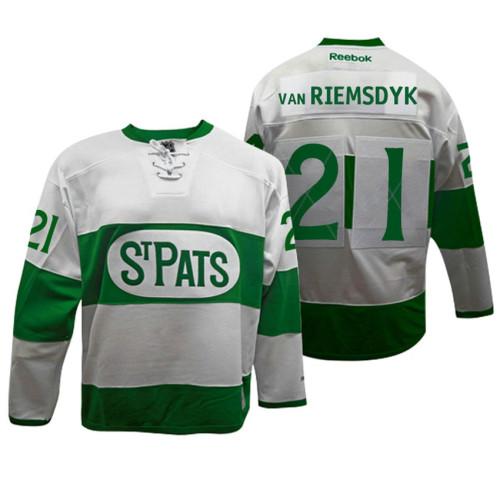 ab0b9e47e Toronto Maple Leafs #21 James Van Riemsdyk White Toronto St. Pats Throwback  Jersey