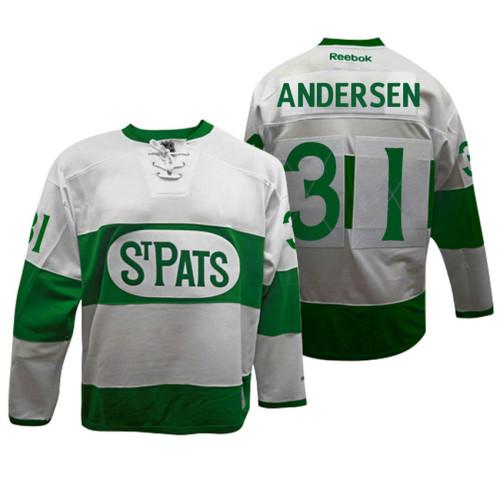 newest a6609 b7148 Toronto Maple Leafs #31 Frederik Andersen White Toronto St ...