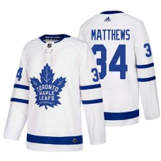 Toronto Maple Leafs #34 Auston Matthews White 2017-2018 Adidas Away Jersey