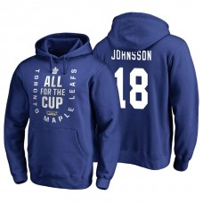 Toronto Maple Leafs #18 Andreas Johnsson Blue 2018 Stanley Cup Playoffs Hoodie