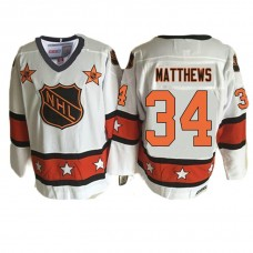 Toronto Maple Leafs #34 Auston Matthews White 1981 ALL Star Throwback Jersey