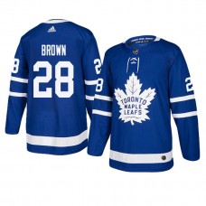 Toronto Maple Leafs #28 Royal Authentic Home Connor Brown Jersey