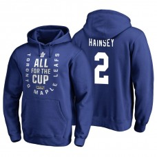 Toronto Maple Leafs #2 Ron Hainsey Blue 2018 Stanley Cup Playoffs Hoodie