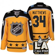 Toronto Maple Leafs Auston Matthews #34 Yellow La Kings All Star Jersey