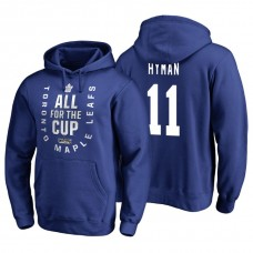 Toronto Maple Leafs #11 Zach Hyman Blue 2018 Stanley Cup Playoffs Hoodie
