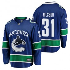 Vancouver Canucks #31 Breakaway Player Anders Nilsson Jersey Blue