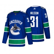 Vancouver Canucks #31 Anders Nilsson Blue 2018 New Season Player Home Jersey