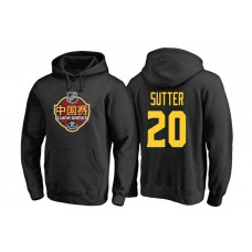 Vancouver Canucks #20 Brandon Sutter Black 2017 China Game Pullover Hoodie