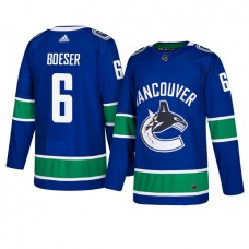 Vancouver Canucks #6 Royal Authentic Home Brock Boeser Jersey