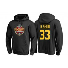 Vancouver Canucks #33 Henrik Sedin Black 2017 China Game Pullover Hoodie
