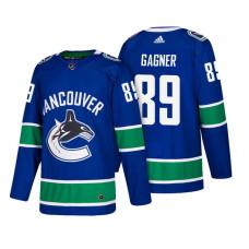 Vancouver Canucks #89 Sam Gagner Blue 2018 New Season Player Home Jersey